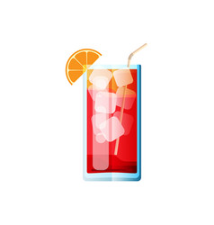 Cocktail sea breeze in flat style for menu vector