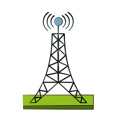 communication antenna symbol vector image