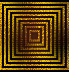 Concentric square gold mosaic sequin glitter vector