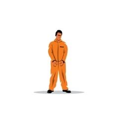 Criminal in orange robe vector