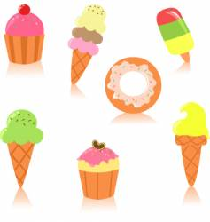 cute pastry vector image