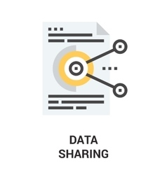 data sharing icon vector image