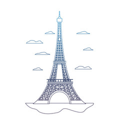 degraded line eiffel tower structure and nice vector image