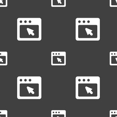 dialog box icon sign Seamless pattern on a gray vector image