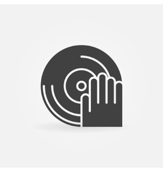 DJ icon or logo vector image