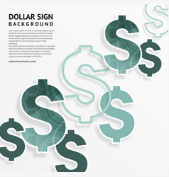 dollar signs on white background vector image