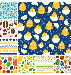 easter seamless pattern background design vector image