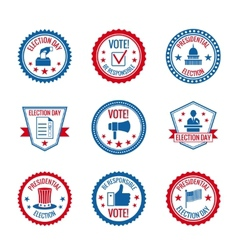 Elections labels set vector image