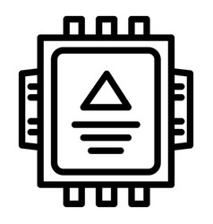 Electric breaker box icon outline style vector