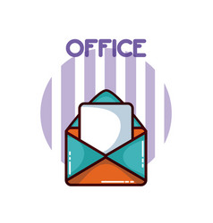 Envelope with documents office element vector
