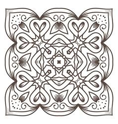 Ethnic Fractal Mandala Meditation looks like vector image