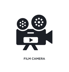 Film camera isolated icon simple element from vector