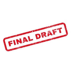Final Draft Text Rubber Stamp vector image