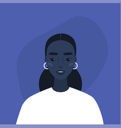 flat portrait a young millennial black vector image