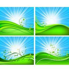 Floral background design set vector image