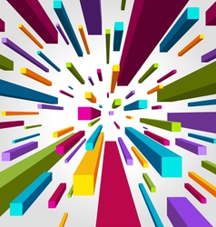Flying cubes background vector