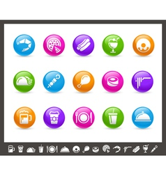 Food Icons Set 2 of 2 Rainbow Series vector image