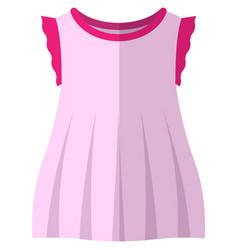 Girl dress flat isolated on white vector
