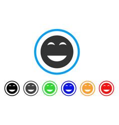 Glad smiley icon vector