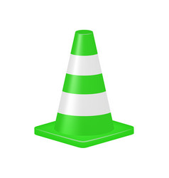 green traffic cone vector image