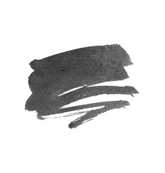 Grunge ink pen black brush stroke vector