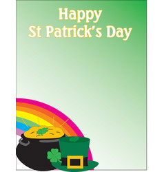 Happy st-patrick themed background vector