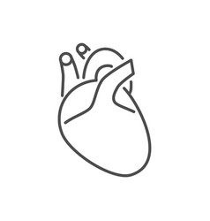 Heart related thin line icon vector