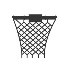 Hoop net basketball front vector