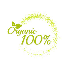 inscription 100 percentage organic vector image