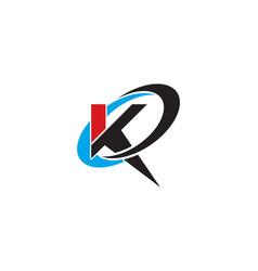 k letter logo template vector image