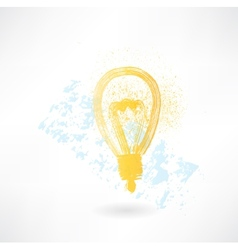 lightbulb grunge icon vector image
