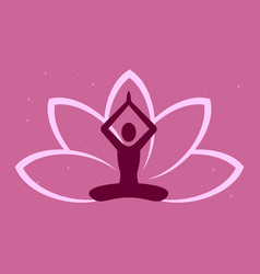 lotus pose vector image