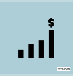 money increase icon money increase icon eps10 vector image