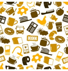 Morning wake up theme color icons set eps10 vector