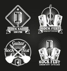 Music festival banners set rock music fest vector