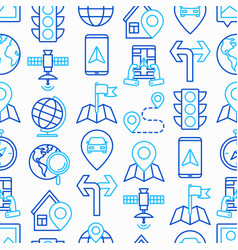 Navigation and direction seamless pattern vector