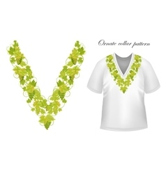 Neck print floral design Fashion white vector image