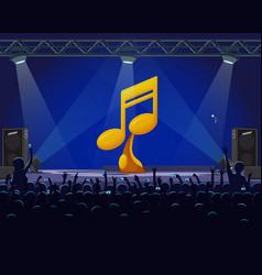 Performance on stage best singer golden award vector
