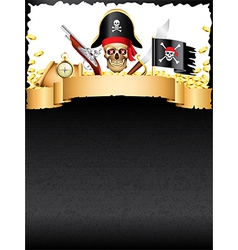 pirates vertical background vector image