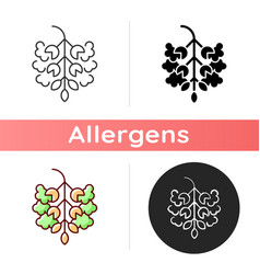 Poplar tree pollen icon vector
