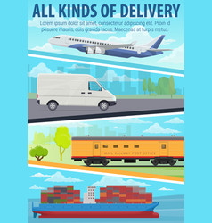 post delivery service freight transport vector image