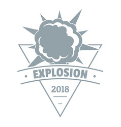 Powerful explosion logo simple gray style vector