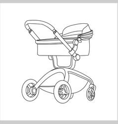 Preambulator pram babuggy go-cart baby vector
