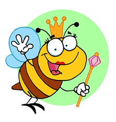 Queen bee cartoon vector image