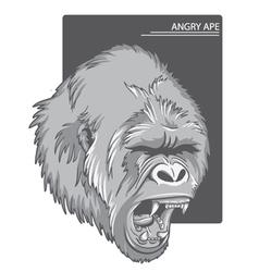 Raging gorilla vector
