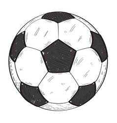 retro soccer ball vector image