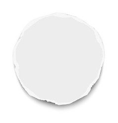 Round torn paper tear with soft shadow isolated vector