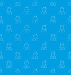 salesman pattern seamless blue vector image