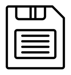 Save file editor icon outline style vector