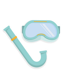 scuba mask and snorkel vector image